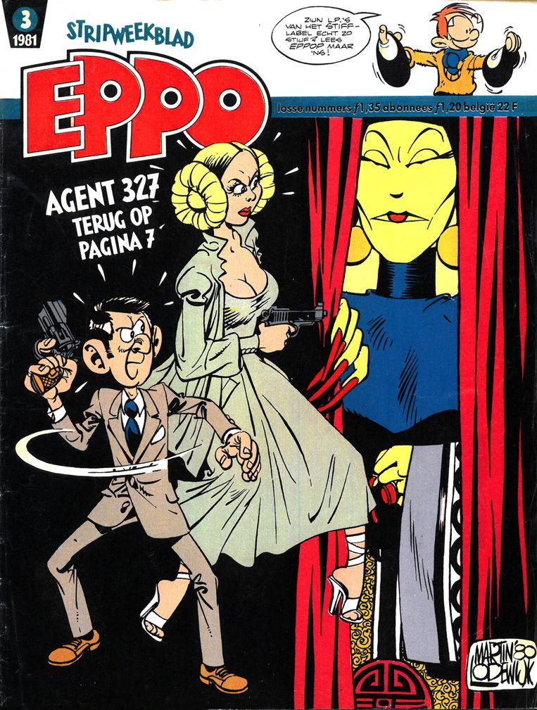 Agent 327 op een Eppo-cover uit 1981. Beeld Agent 327, Cover 1981