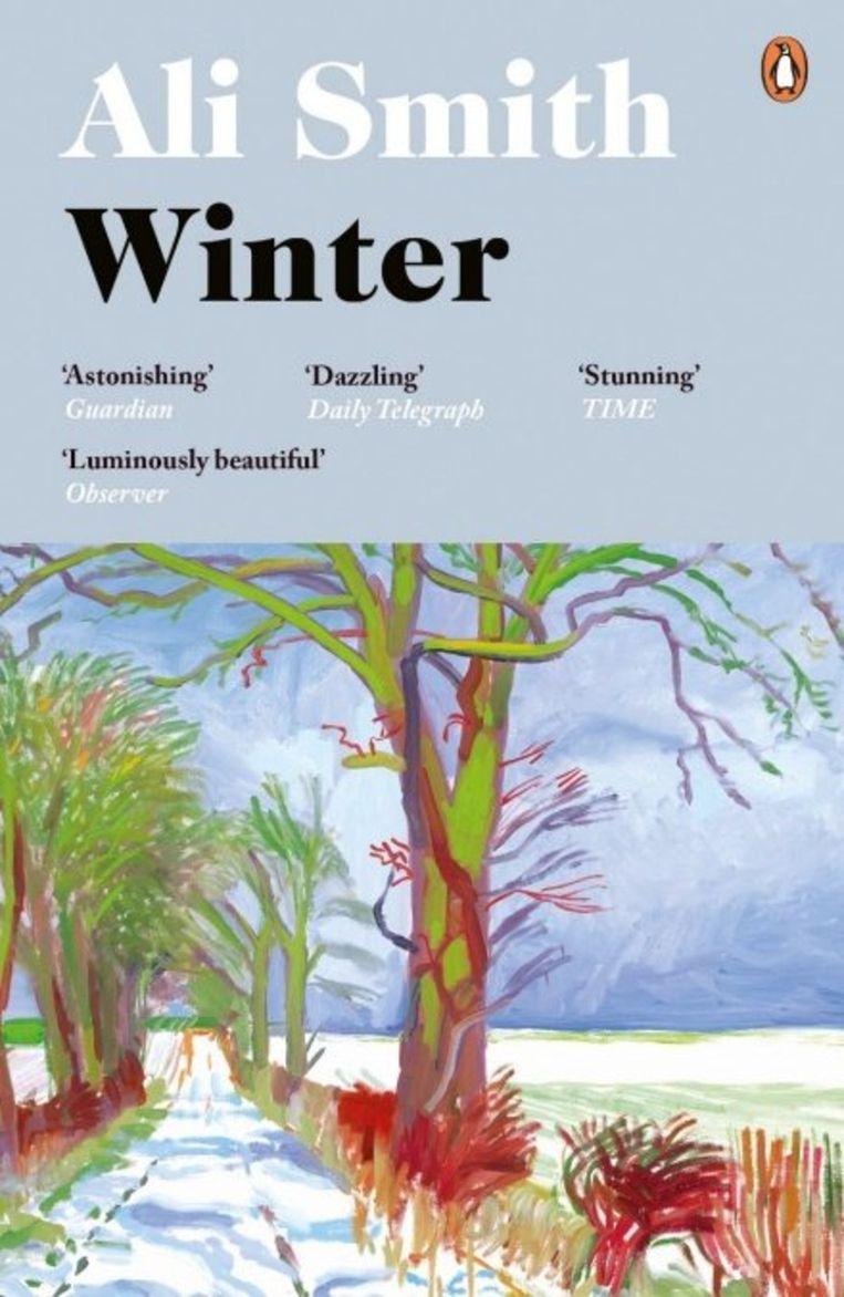 Ali Smith: Winter. Omslag David Hockney, Richard Bravery, 2017. Beeld Penguin/Hamish Hamilton