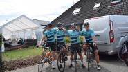 Jorn, Sanne, Jonas en Lorenzo fietsen hun '24 uur van Boutersem'