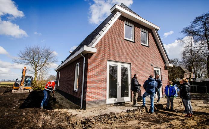 Een nieuwbouwwoning op het platteland.