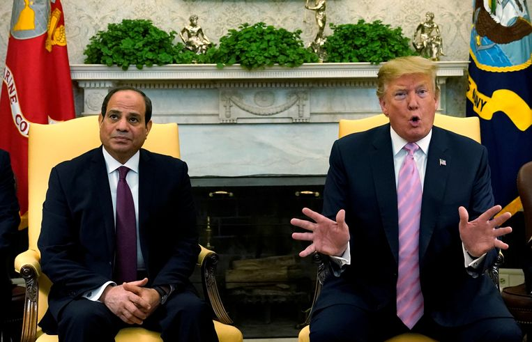 President Donald Trump ontving president Abdel Fattah al-Sisi begin april in het Witte Huis.