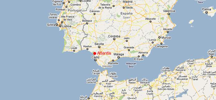 De plek waar Atlantis volgens Freund zou liggen.