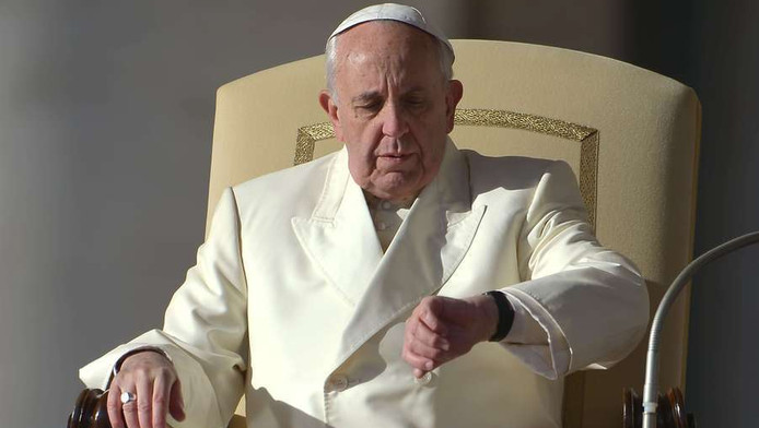 Paus Franciscus afgelopen zondag.