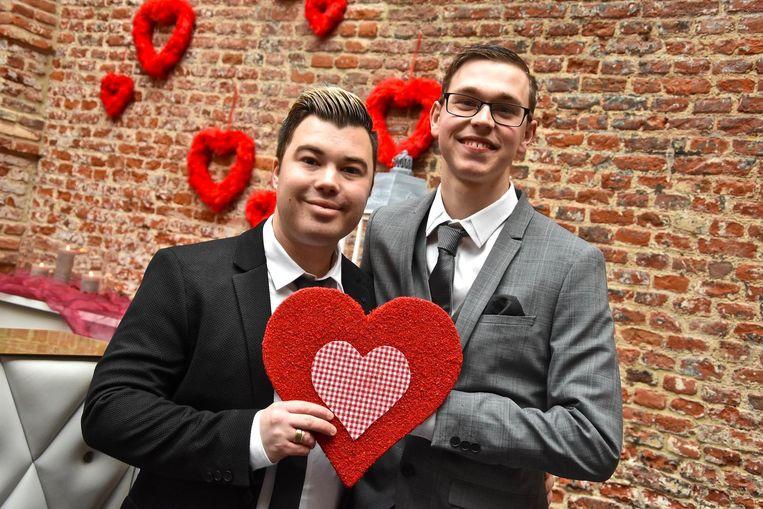 Jeffrey Deruyck en Jeffrey Dumat trouwden op valentijn.