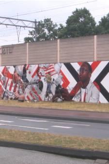 PSV muurschildering bij Philips Stadion is woensdagmiddag klaar