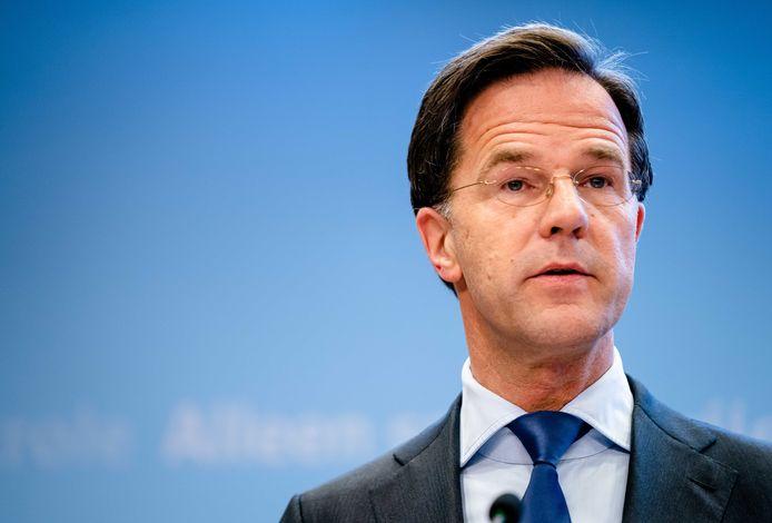 Premier Mark Rutte na afloop van het crisisoverleg.
