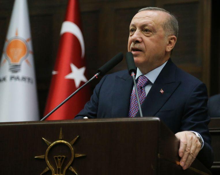 Turkse president Erdogan. Beeld AFP