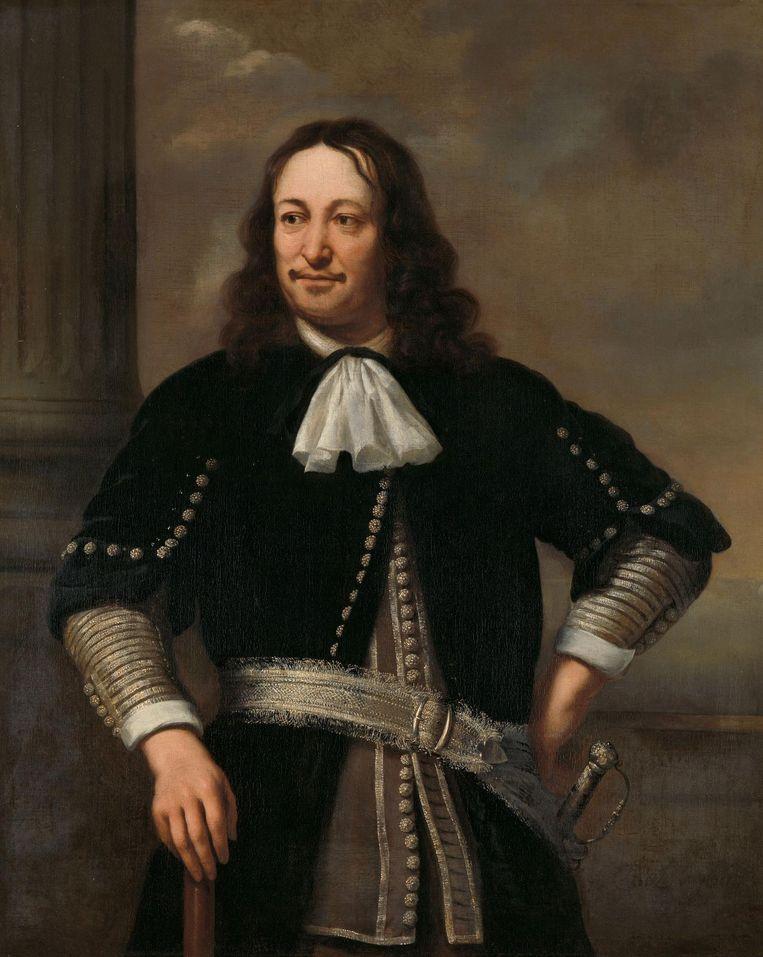 Impressie van het soort kostuum waarin Afanasyev wil promoveren. De piraat Captain Blood, zijn bron van inspiratie, droeg volgens de geohydroloog vergelijkbare kleding. Schilderij van Ferdinand Bol - Portret van een zee-overste, waarschijnlijk vice-admiraal Aert van Nes (1626-1693). Beeld Collectie Rijksmuseum