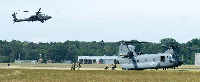 Internationale oefening op vliegbasis Gilze-Rijen.
