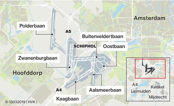 De minister sliep vannacht enkele kilometers ten zuiden van de Zwanenburgbaan, waar ook 's nachts nog wel eens aan de zuidzijde vliegtuigen opstijgen of landen. Alleen afgelopen nacht was het aan die kant van de baan oorverdovend stil