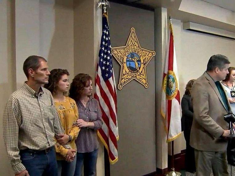 Caitlyn Frisina was vandaag met haar ouders aanwezig op een persconferentie in haar woonplaats Columbia County (Florida).
