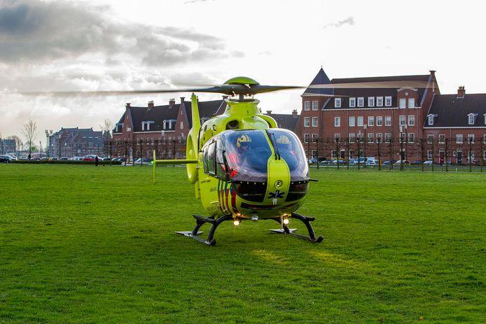 De traumahelikopter in Geertruidenberg.