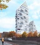 Hoogbouw in Eindhoven: De toren van Nieuw Bergen, het project aan de Deken Van Somerenstraat.