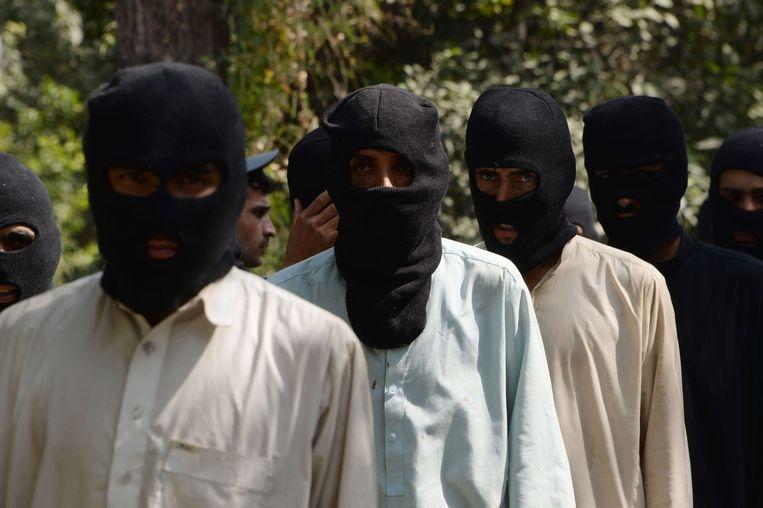 Leden van de taliban in Afghanistan.