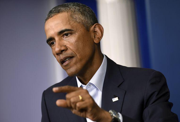 President Obama wil het naar het buitenland verplaatsen van hoofdkantoren bij overnames van kleinere concurrenten verbieden. Beeld ap