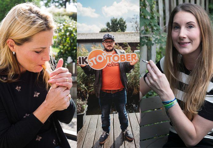 Janneke, Rait en Helen deden de afgelopen jaren mee aan Stoptober, zonder blijvend succes.