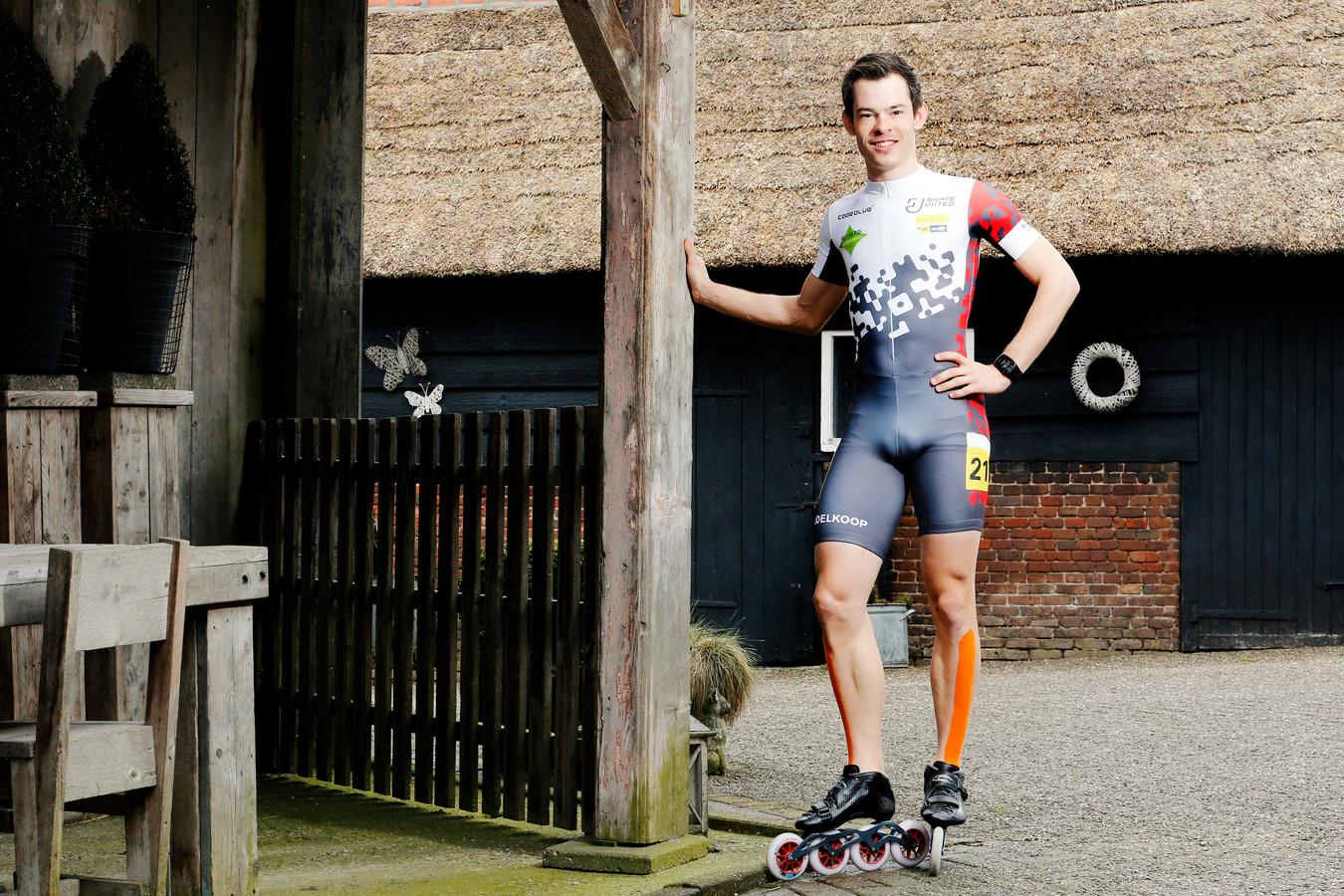 Marc Middelkoop thuis op de boerderij in Culemborg.