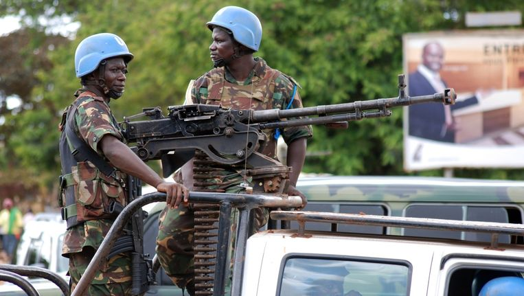 Archiefbeeld: VN-militairen in Beni Beeld afp