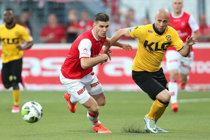 Ado Den Haag Aast Op Mvv Verdediger Kuipers Nederlands Voetbal Bd Nl