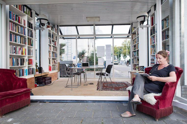 Het Leeshuis in de Tolhuistuin Beeld Maarten Steenvoort