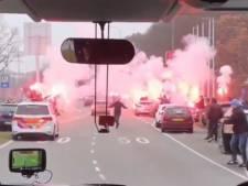 Oponthoud voor spelersbus De Graafschap door sfeeractie; duel met FC Eindhoven begint later
