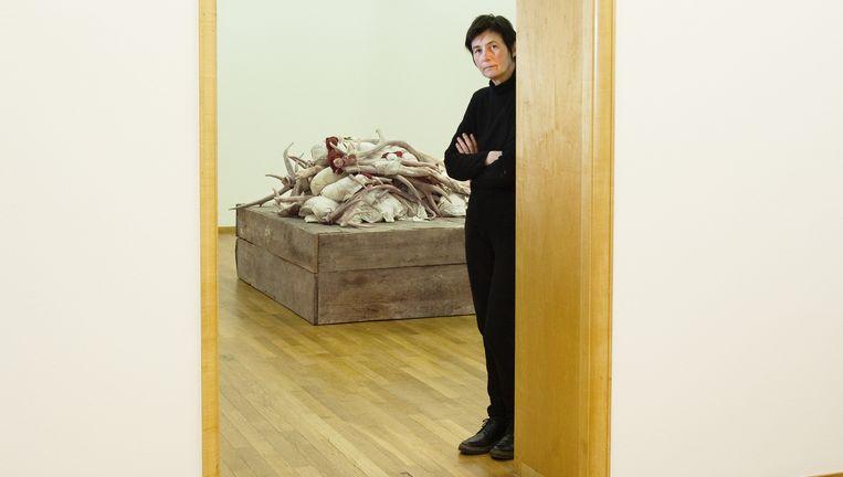 Berlinde De Bruyckere in het Gemeentemuseum in Den Haag. `Ik wil troost bieden.' Beeld Raimond Wouda