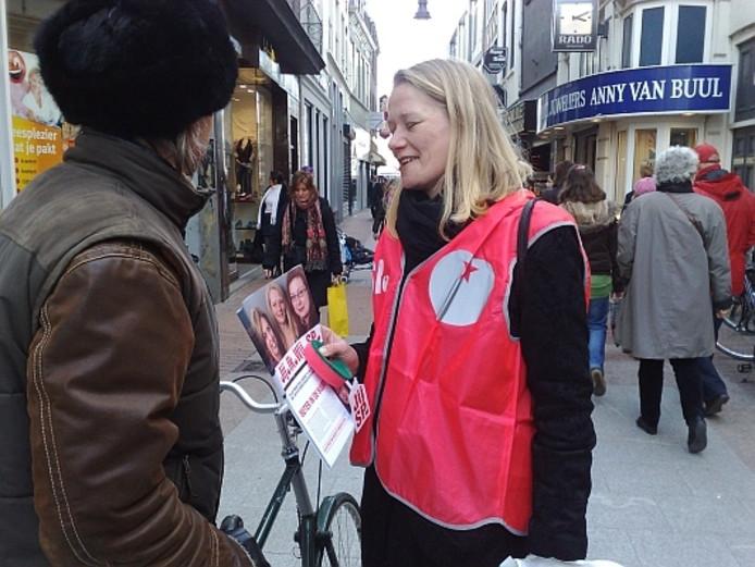 Hamerslag op campagne in Den Bosch in 2012.