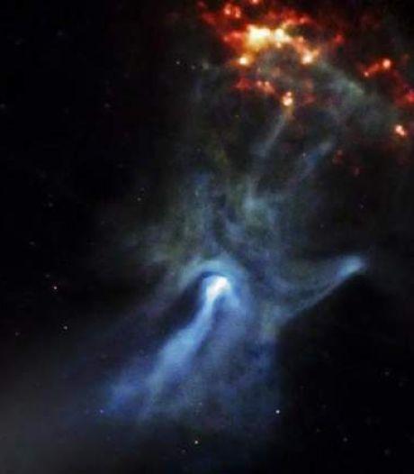 NASA legt 'Hand van God' vast