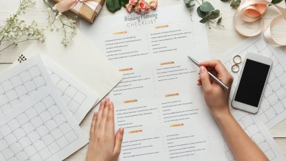 """""""Hou het klein en maak een gezamenlijke Spotify-lijst"""": weddingplanner van Gwyneth Paltrow deelt tips voor een geslaagd virtueel trouwfeest"""