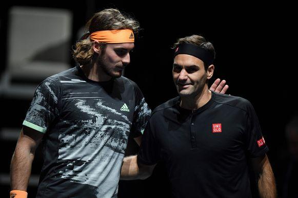 Tsitsipas en Federer.