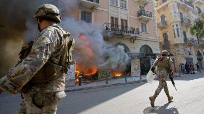Opnieuw onlusten in Libanon: demonstranten steken banken in brand