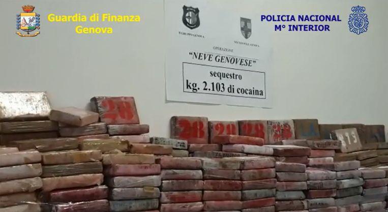 De drugs kwamen uit Colombia en waren bestemd voor Spanje.