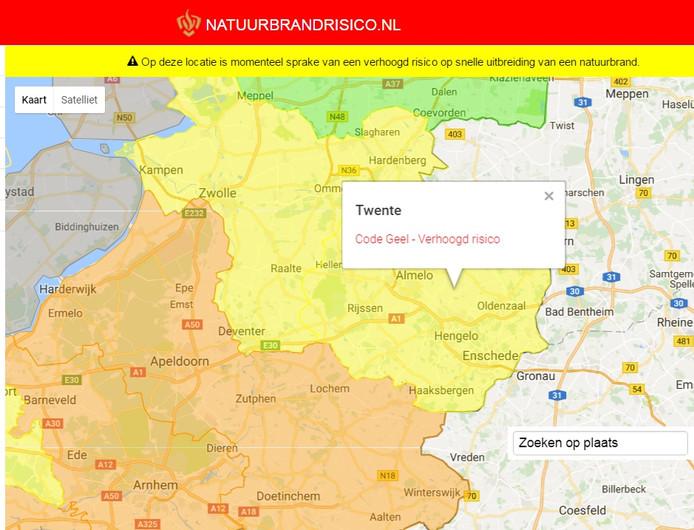 In Twente geldt maandag natuurbrandcode Geel.