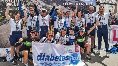 Sportieve topprestatie: John Monsecour uit Gavere beklom samen met 11 andere diabetespatiënten de hoogste bergpas van Italië