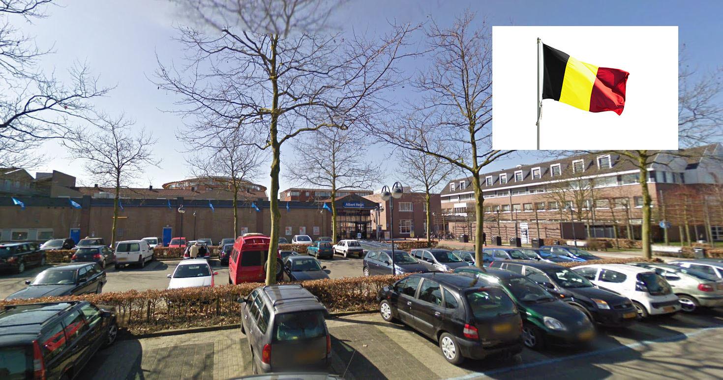 Op het parkeerterrein van Albert Heijn in Goirle zijn altijd wel wat Belgische kentekens te vinden.