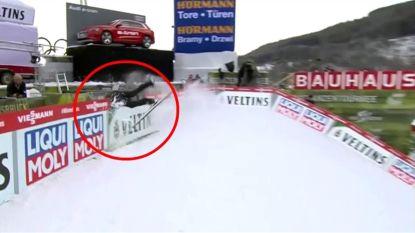 VIDEO. Schansspringer ondervindt dat zijn sport zelfs na een veilige landing nog gevaarlijk kan zijn