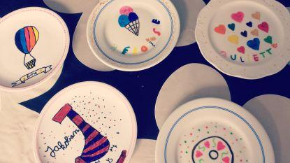 Kunstendag voor kinderen met servies