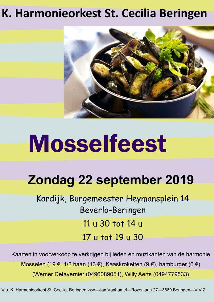 De affiche van het Mosselfeest.