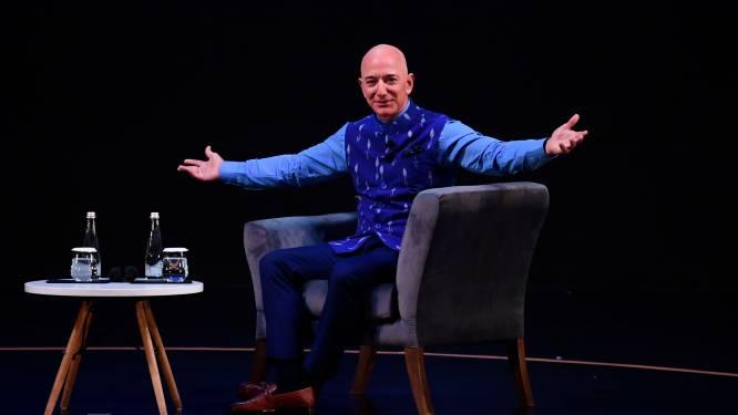 Amazonbaas Jeff Bezos werd op kwartier tijd 13,2 miljard dollar rijker