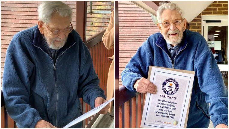 Bob Weighton werd in maart van dit jaar officieel erkend als de oudste man ter wereld.