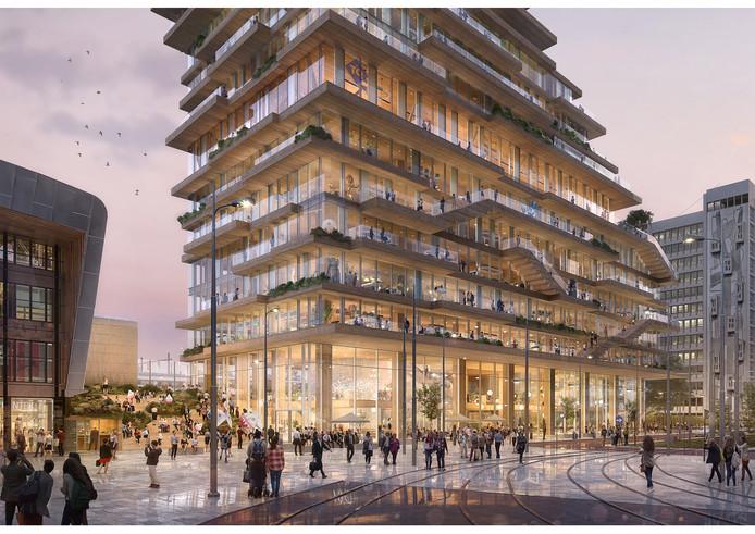 De Tree House in volle glorie. De bouw start halverwege 2021.
