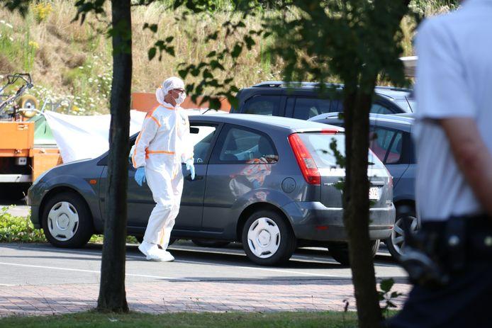 Het labo deed een onderzoek op de parking van het woonzorgcentrum Mijlbeke in Aalst.