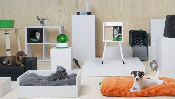 Met de producten van de nieuwe lijn van Ikea kun je je huis veranderen in een waar katten- en/of hondenparadijs.