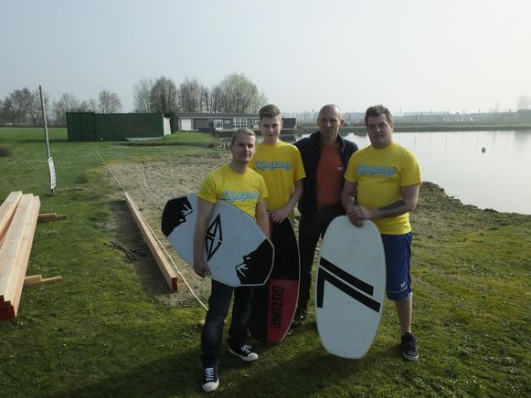 V.l.n.r.: Bart Arnau, Xander De Groote, Luc De Cooman en Kristof Smits.