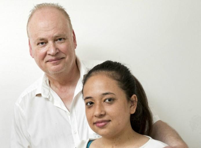 Vader Hans en zijn dochter Cynthia.
