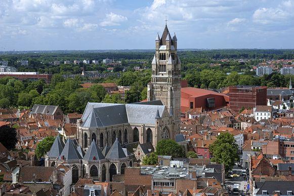 Luchtfoto van Brugge.