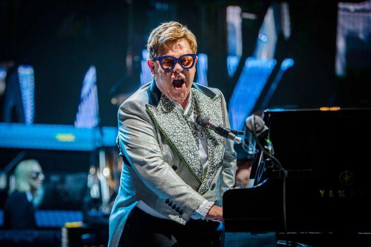 Elton John performs in de Ziggo Dome in Amsterdam. Beeld EPA