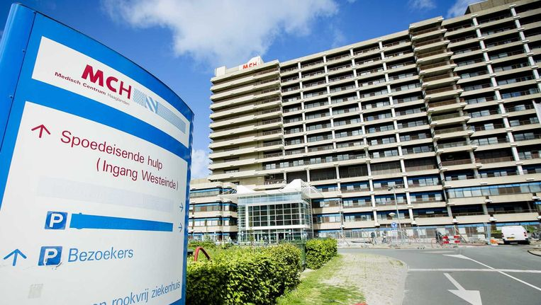 Het exterieur met het logo van het MCH Westeinde ziekenhuis in Den Haag waar een geval van de MERS bacterie is geconstateerd. Beeld null
