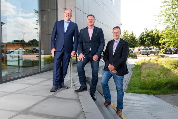 De drie genomineerden voor de Ondernemersprijs Land van Cuijk & Limburg-Noord. Van links naar rechts: Rob Besemer, Stephan Hamers en Stijn Heijs.