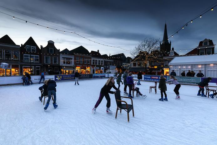 Dit jaar geen ijspret op de Markt in Steenwijk.